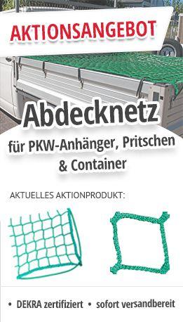 Abdecknetz für PKW Anhänger Pritschen Container