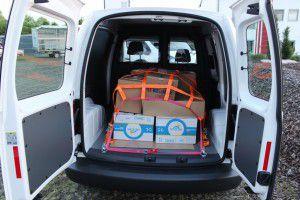 Ladungssicherung im Transporter